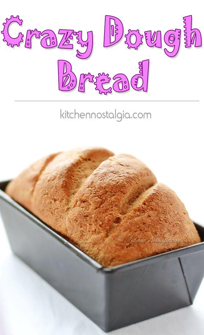 Crazy Dough Bread - easy bread recipe made using regular and vegan Crazy Dough - kitchennostalgia.com