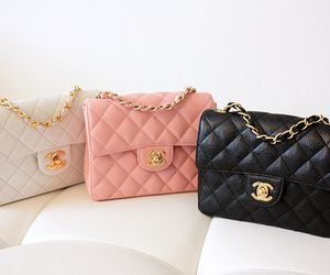 Beige Pink And Black Chanel Purses