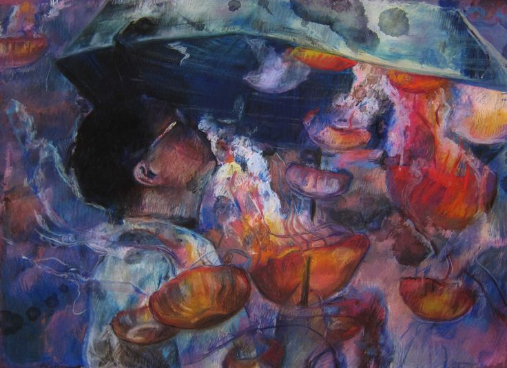 """Vivian Ho, All The Memories Are Trace Of Tears, 2013, Pastel and Postercolor on Paper, 31"""" x 25"""", Reverie   Artify Gallery"""