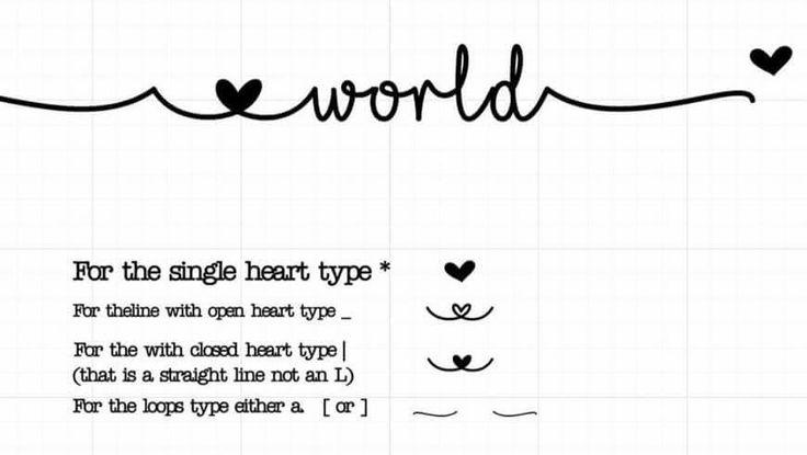 I Love Glitter Font Specials Glyphs