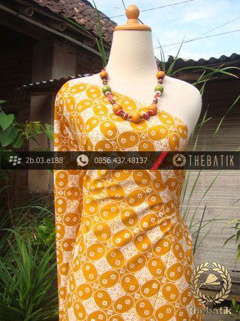 Kain Batik Cap Jogja Motif Kawung Beton Kuning | #Indonesia #Batik #Fabric Pattern Design http://thebatik.co.id/kain-batik-bahan/
