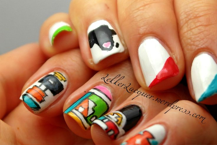 South African Ndebele Nails.. :)
