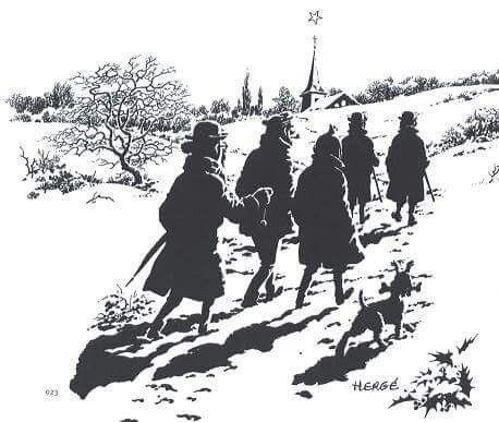 Hergé, Noël
