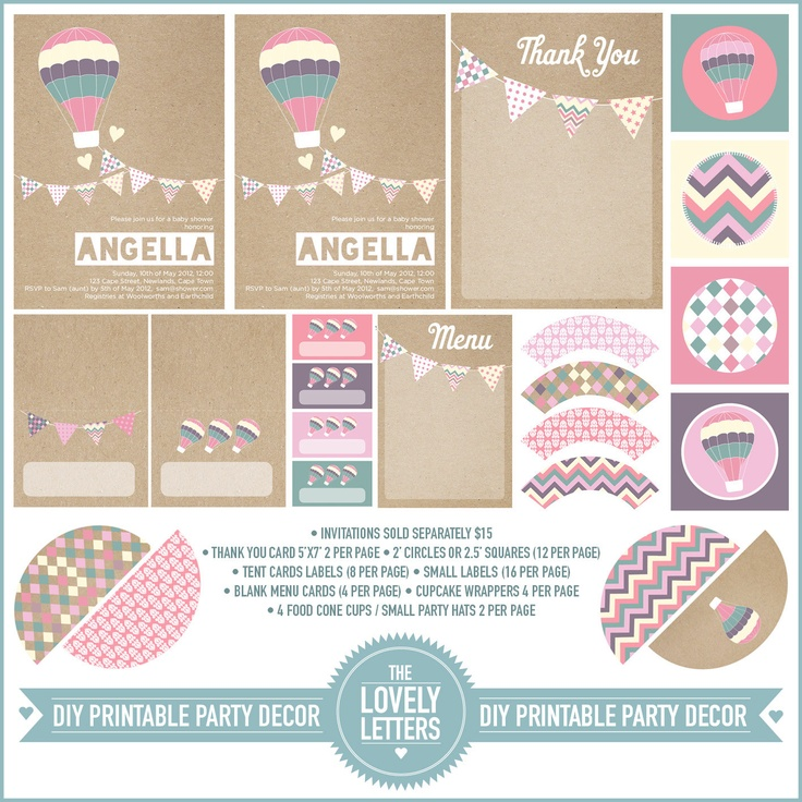 165 best Hot air balloon party 1st birthday images on Pinterest ...