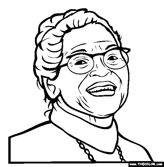 100 free famous people coloring pages color in this picture of rosa parks and