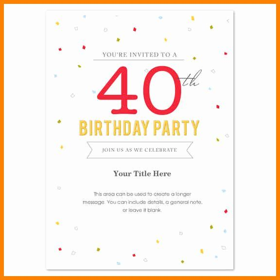 Ms Word Birthday Invitation Template New Microsoft Word Birthday Invitation Templates Party Invite Template Birthday Party Invitations Free Invitation Template