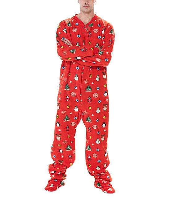 Weatherproof Boys Green Christmas Footed One-Piece Pajamas
