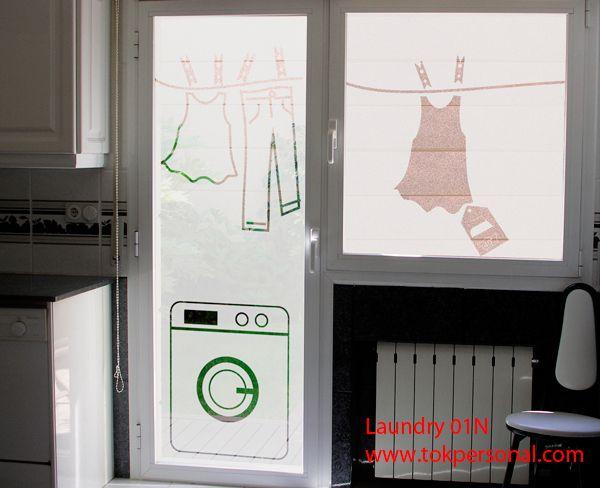 vinilo decorativo para la puerta de tu lavadero. Manten oculta tu lavadora y tu ropa tendida !! Es ideal para substituto de las cortinas, por el vinilo es especial para cristales DEJANDO PASAR LA LUZ. Puedes ver muchos más modelos en la tienda on-line www.tokpersonal.com Se fabrican a medida de cada cliente, por lo que puedes solicitar presupuesto sin compromiso indicándonos las medidas de los cristales a info@tokpersonal.com, por whatsappa o llamándonos al 618 404 985. Muchas gracias
