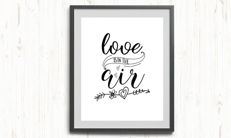 Love is in the air printable, love printable, love quote printable, typography printable, love poster, love quote printable, wall art love by ThePrintableCorner on Etsy