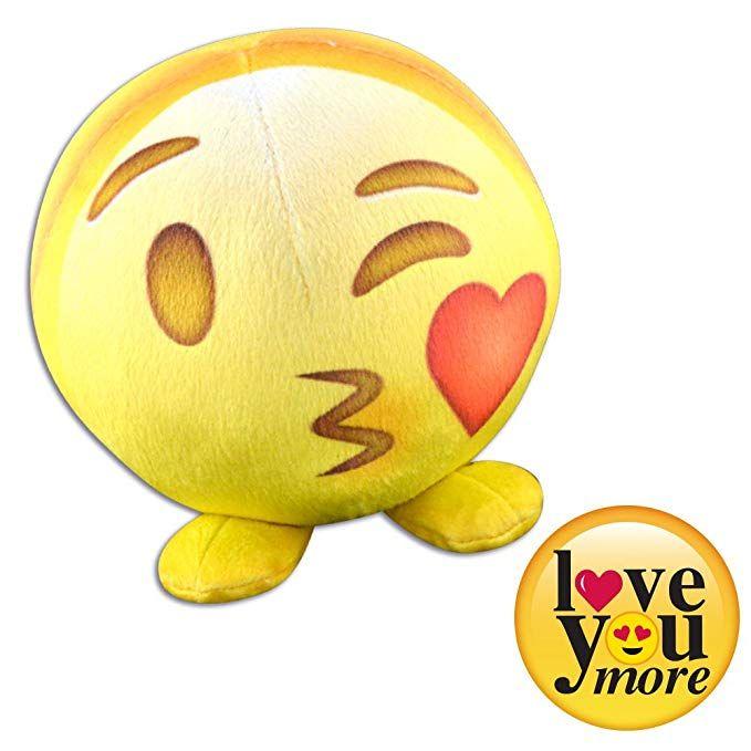 Novelty Inc Plush Fur Ball Emoji Stuffed Animal Toys For Kids Love You More Kids Toys Pet Toys Valentine Day Crafts