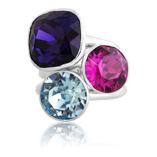 Montpelier Summer 2018 Stacker Ring Set #bling #MarisaKateDesigns #Swarovski #crystal #jewel #sterlingsilver