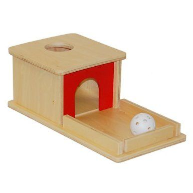 Montessori Object Permanence Box for ages ½-1½