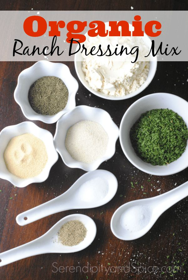 This DIY Organic Ranch Dressing Mix Recipe tastes just like the packaged stuff but without all the fillers and preservatives!  B
