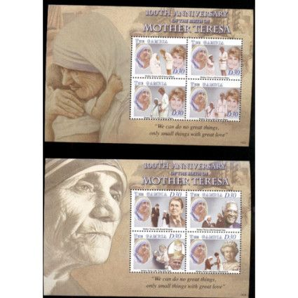 Gambia 2010 MNH 2 SS, MOTHER TERESA