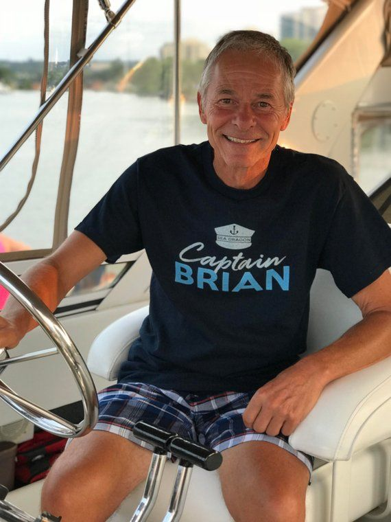 Sail Boat Yacht Houseboat personalized Captain T Shirt customized Name of Boat and Captain gift for boater boat lover sailing up to 4XL