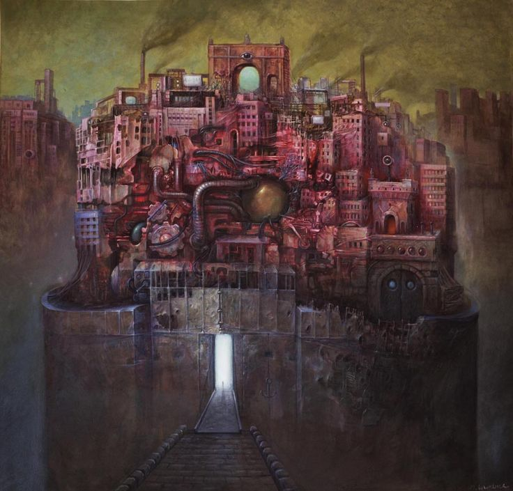 MACIEJ WIERZBICKI - BIO ARK, ACRYLIC ON CANVAS 100/100CM