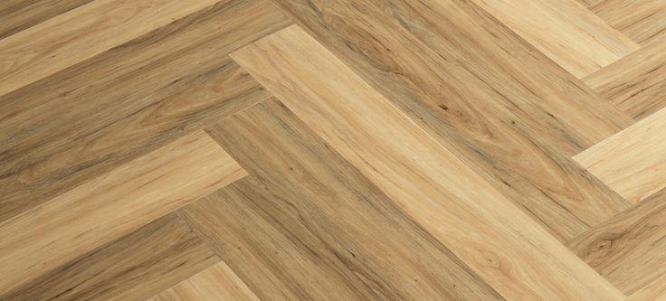 2-color Herringbone Pattern | Parterre Luxury Vinyl Plank | InGrained: Autumn Apple 11840; European Apple 11844