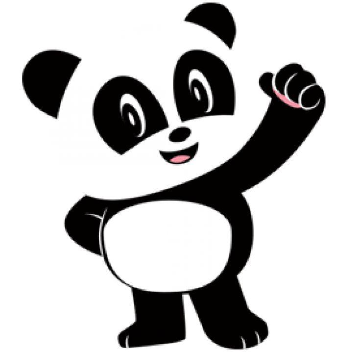 картинки панда трафареты блан промышленный