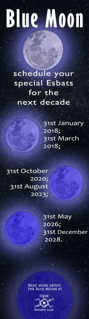 Blue Moon Calendar (Pinterest)
