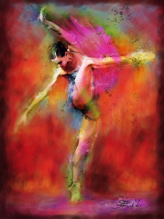 Figure Painting - Lovers - Modern palette knife textured painting - Dance, ballet, tutu dress painting.Made to order.      In this oil