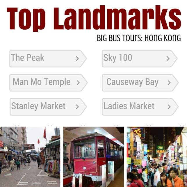 Some of my favorite landmarks from the Big Bus tour I took in Hong Kong