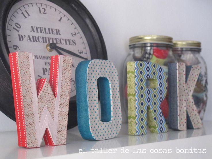 Selección de letras decoradas. Ideal para darles un toque especial a cualquier espacio!