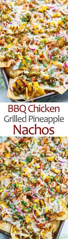 BBQ Chicken and Grilled Pineapple Nachos