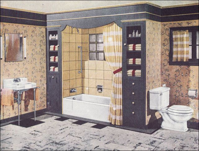 1920s Bathroom, Bath Design, Vintage Interiors, 1940s, Restroom Design