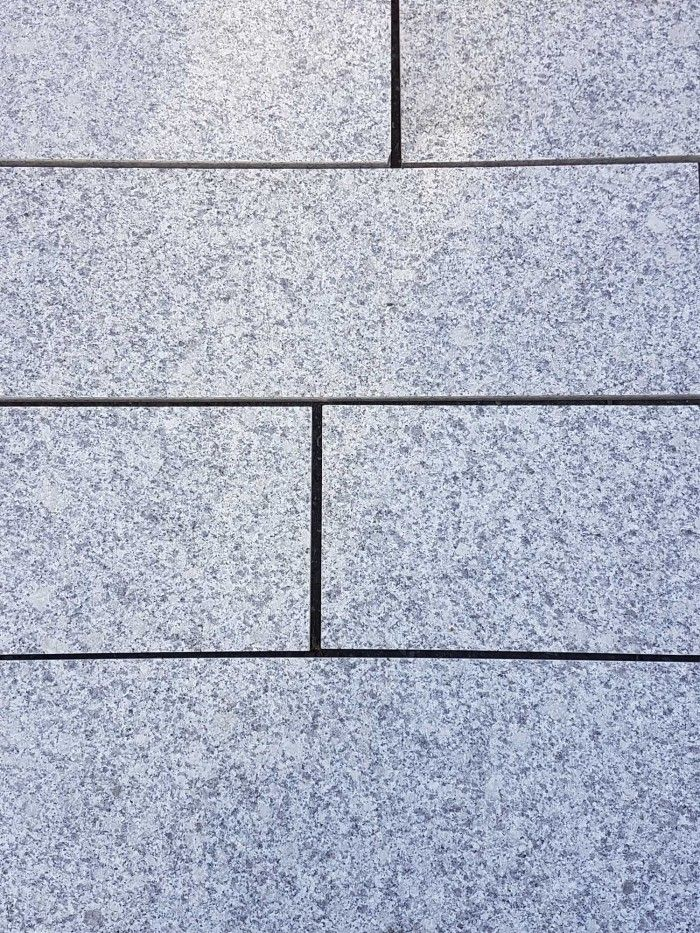 Royale Stones, Natural Granite Single Size Paving Slabs - Light Grey 800x200