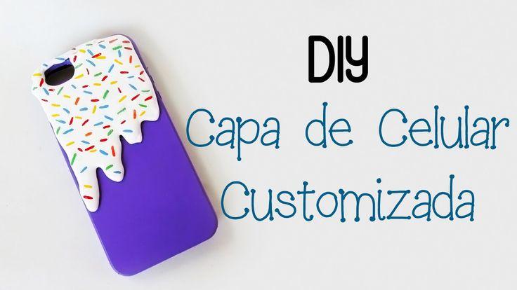 DIY: Capa Celular Customizada com Cola Quente - Sorvete Derretido - Glue Gun…