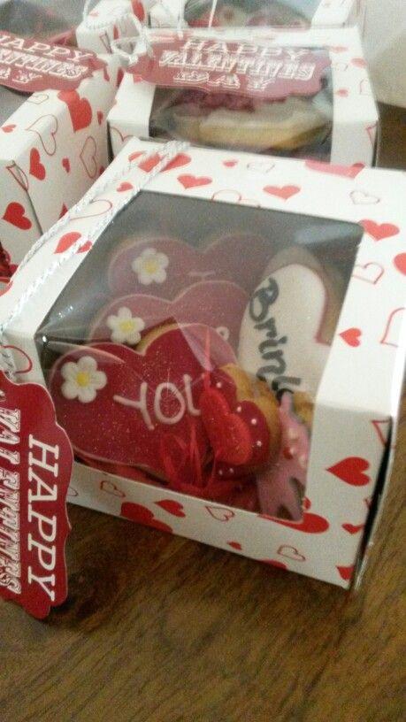 Valentine's day gift box cookies