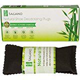 Best Activated Charcoal Shoe Deodorizer By Sagano  2x All Natural Activated Charcoal Odor Absorber Inserts  Stop Stinky Feet and Smelly Socks  Prevents Mold and Bacteria  Smoke Smell Remover