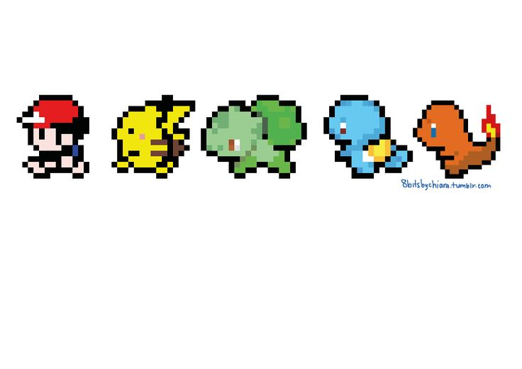 Pix For > 8 Bit Pokemon Starters