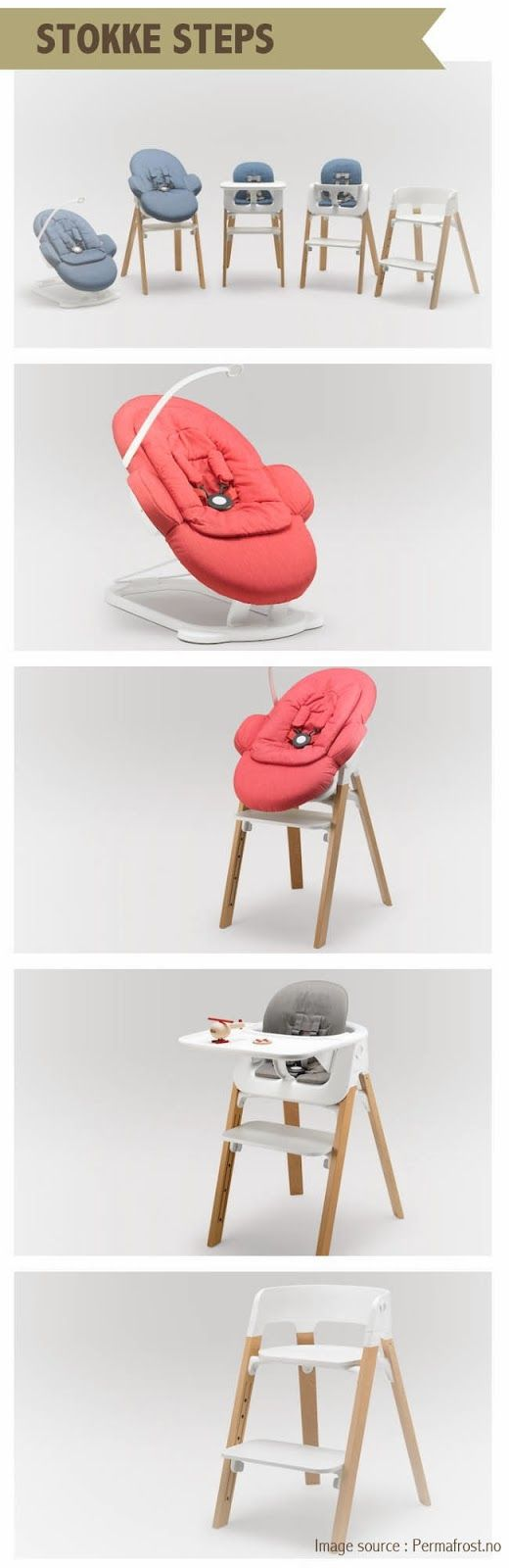 Stokke Steps Chair Stokkelovers This chair grows with your baby - super cool!