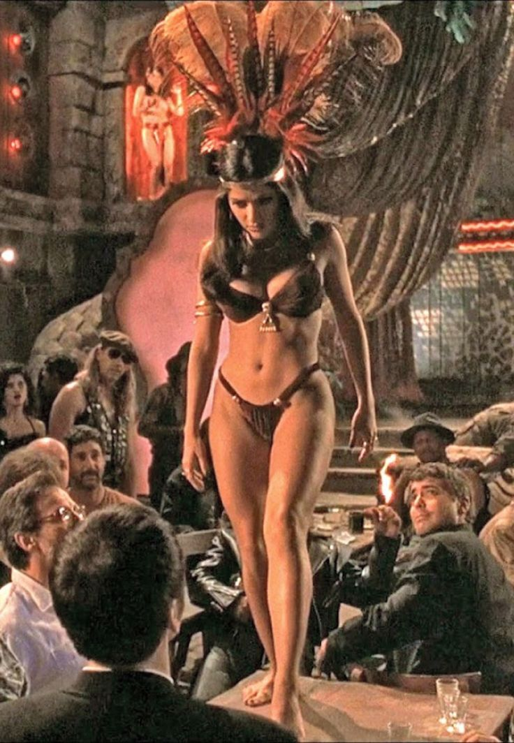 Salma Hayek - From Dusk Till Dawn (1996) / Exploitation babes. She is the most…