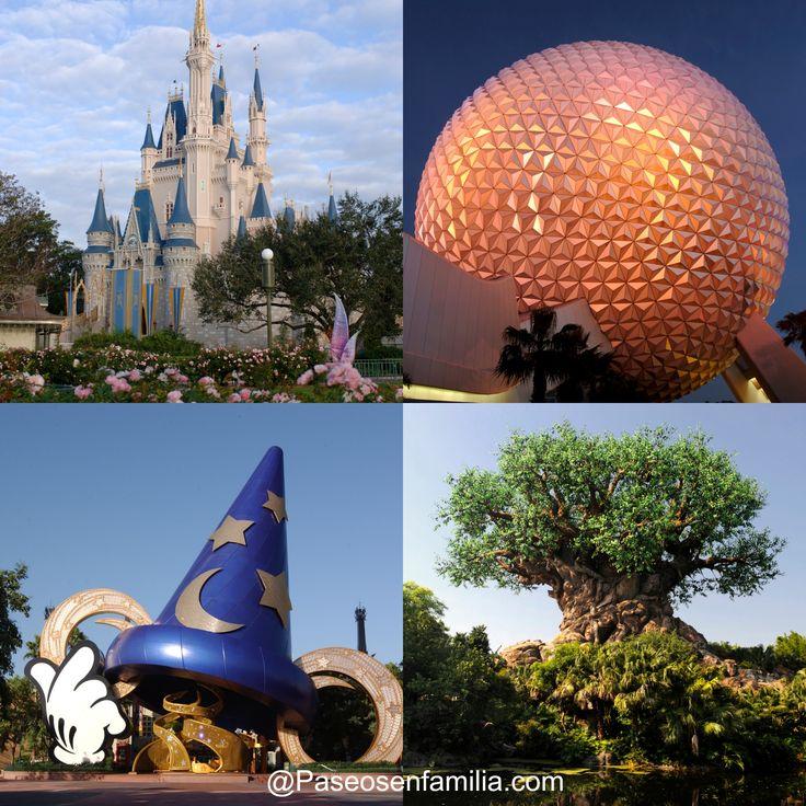 Los cuatro parques de Disney