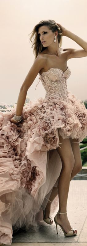 Zuhair Murad - I would never have anywhere to wear this. but, I love it so much! I imagine Sunday morning just laying around the apartment in it... #noshame