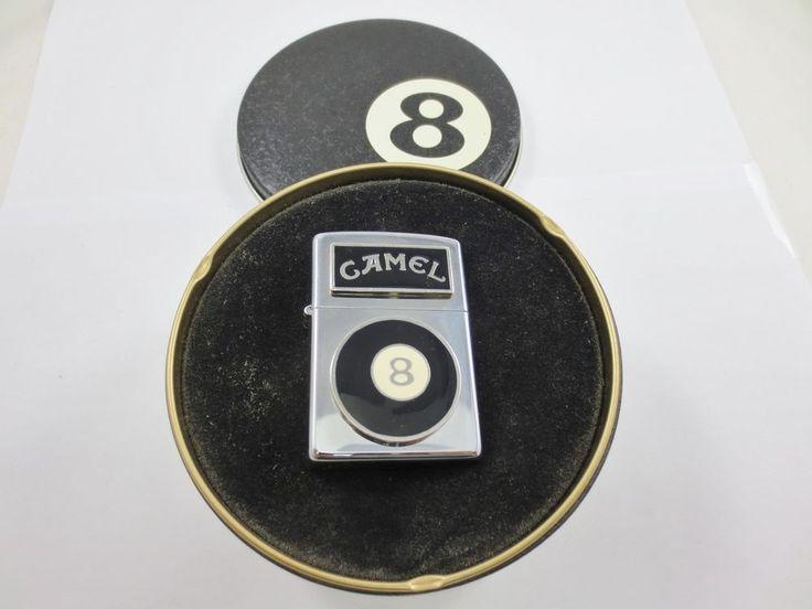 ZIPPO USA CAMEL Cigarette Lighter New Old Stock w Tin Case #8 POOL BALL #H X
