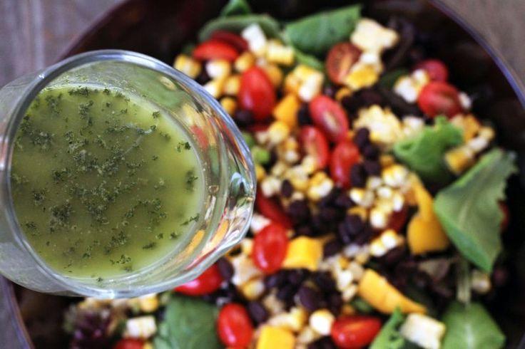 Southwestern Salad with Cilantro Jalapeno Vinaigrette {www.mylifeasamrs.com}