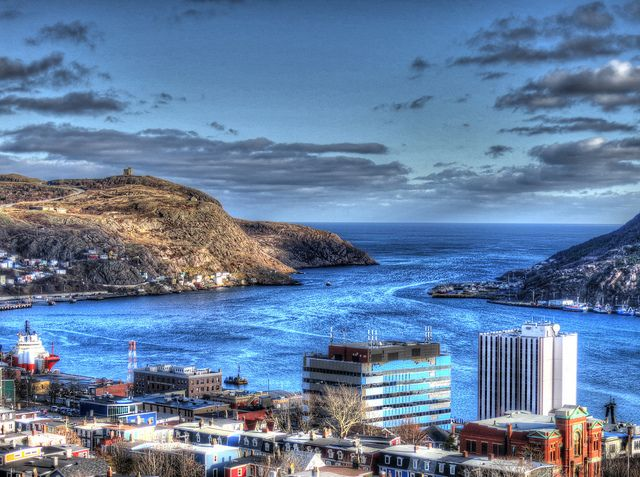 Signal Hill, St. John's, Newfoundland - -> A stunning photo of Signal Hill off in the distance! A great place to look for icebergs!