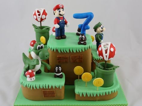 Torte Super Mario Fondant