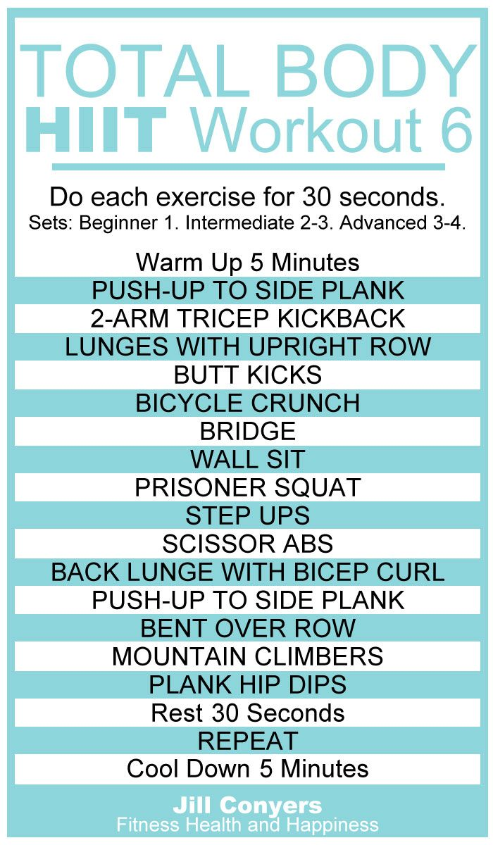 Total Body No Excuses HIIT Workout 6 | Jill Conyers