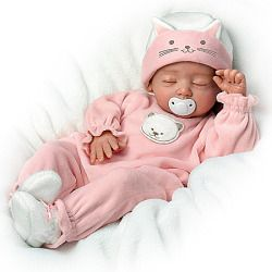 Katie, My Sweet Little Kitten So Truly Real Lifelike Baby Girl Doll By Mayra Garza - Realistic Baby Dolls