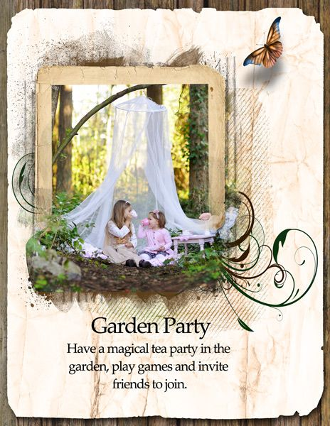 Garden Party by sanra. Kit: ArtBlend Just Natural #1 by Lora Speiser