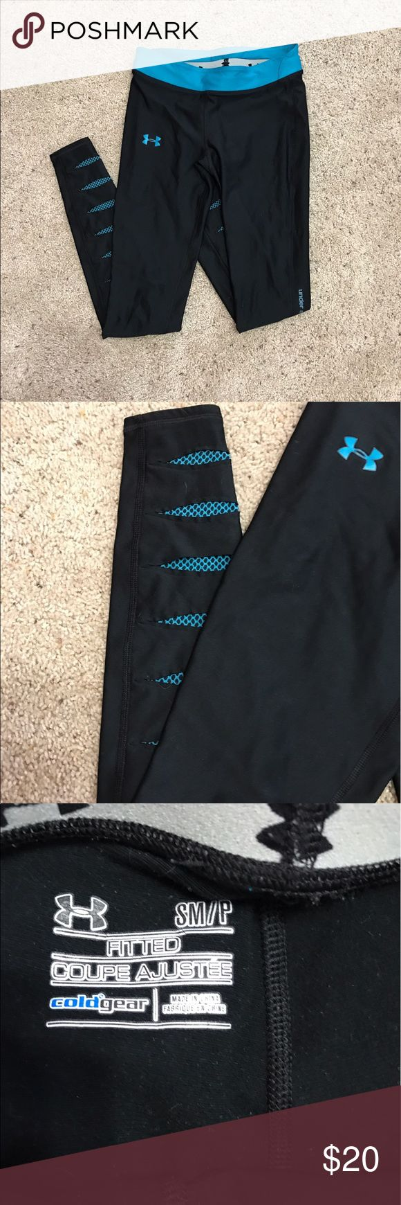 Under Armour Running Tights Excellent Condition Running Tights. Fitted. Cold Gear. Under Armour Pants Track Pants & Joggers
