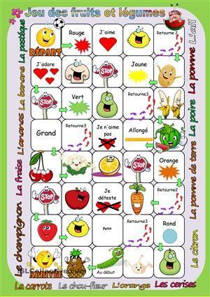 Jeu des fruits et légumes Plus