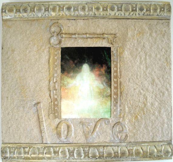 Christian Love Art, Unique Frame Art Work, Baptism Gift, Jesus Picture, Framed Christian Art, Ornate Frame, Beige Jesus Artwork, Love Art