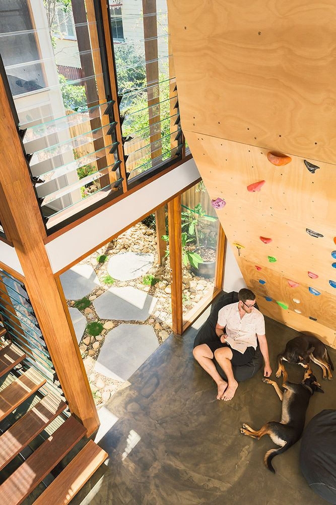 Yeronga Renovation | Climbing Wall | Queensland Australia | Smith Architects