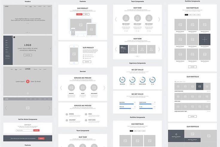 Wireframe, Web Design, Web Design Inspiration