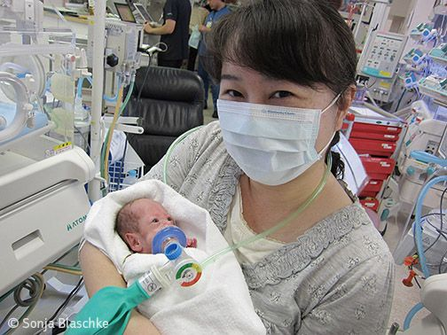 Premature baby care in Japan